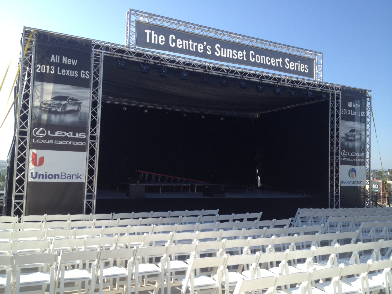 Concert Stage, Truss Roof, Lighting & Sound