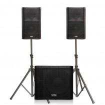 2 Powered Speakers & 1 Subwoofer Kit
